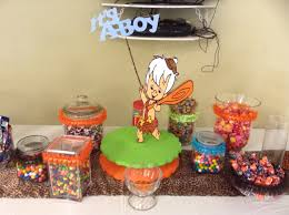 candy table flinstones bam bam themed shower it u0027s a boy