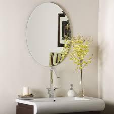 White Oval Bathroom Mirror Bathroom Mirror