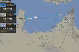 Doha Qatar Map Flight Ban For Qatar Flights In Uae Saudi Arabia Bahrain And