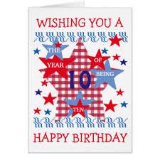 10 year old birthday cards u0026 invitations zazzle co uk