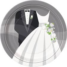 and groom plates and groom wedding plates bartz s party stores