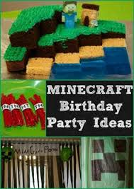 minecraft party food table phoenix u0027s 10th pinterest