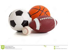 assorted sports balls on white stock images image 10751274