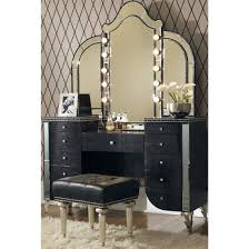 Jane Seymour Furniture Collection Hollywood Swank Aico Michael Amini Hollywood Swank Upholstered Vanity Set In Black