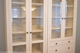 Glass Front Kitchen Cabinet Door Glass Front Cabinet Doors Kitchen Presenting Dark Brown Varnished