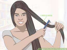 hair color put your picture 4 ways to put a streak of color in your hair wikihow