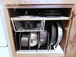 kitchen cabinet organizers for pots and pans diy knock off organization for pots pans how to organize your