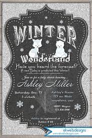 Winter Wonderland Baby Shower Winter Wonderland Baby Shower Invitation Silver Glitter And