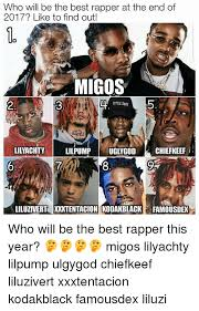Meme Rapper - who will be the best rapper at the end of 2017 like to find out