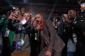 Justin Timberlake Meme - kid takes selfie with justin timberlake at super bowl