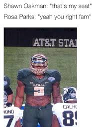 Football Player Meme - baylor s shawn oakman memes are blowing up the internet daily snark