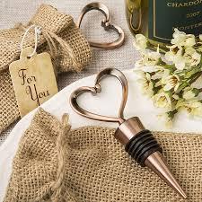 wine stopper wedding favor vintage heart wine bottle stopper wedding favors with copper