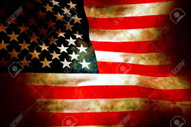 Old Flag Usa Aged And Water Damaged Old Glory Flag Painted On Stone Stock Photo