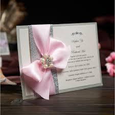 Pink Wedding Invitations Aliexpress Com Buy Rustic Wedding Invitations Card With Ribbon