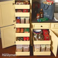 drawers in kitchen cabinets kitchen storage cabinet rollouts the family handyman