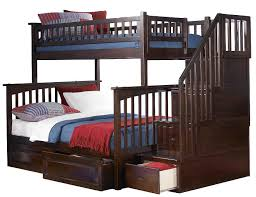 Ogden Twin Over Full Stairway Bed - Stairway bunk bed twin over full