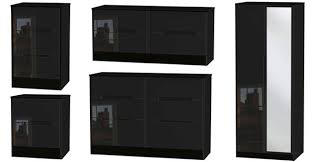 Black Gloss Bedroom Furniture Uk Welcome Furniture Monaco Range Monaco High Gloss Bedroom Furniture