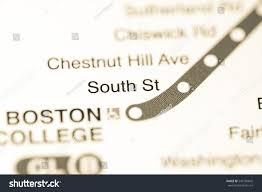 Boston Metro Map South St Station Boston Metro Map Stock Photo 542105842 Shutterstock