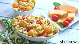 meatless monday tortellini tomato and melon make an unusually