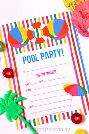 summer pool party invitation free printable diy summer party