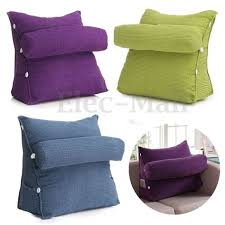 bed reading rest waist pillow back cushion with arm reading