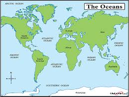 the sea map oceans and seas map by maps com from maps com s