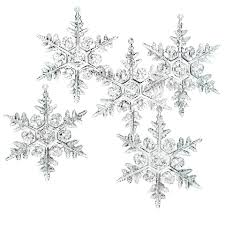 plastic snowflake ornament clear 3in 24 pack