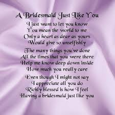 asking bridesmaids poems personalised coaster bridesmaid poem lilac satin free gift