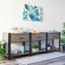 long rustic modern buffet table buildsomething com
