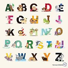 Kids Room Wall Decor Stickers by Amazon Com Fun Educational Alphabet With Animals For Baby Nursery