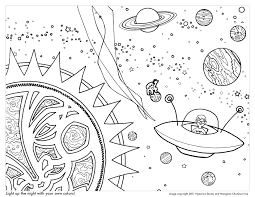 space coloring page space coloring pages for kids with rocket