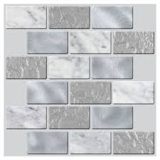 shop peel u0026stick mosaics peel and stick 4 pack whispering clouds