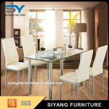 China Modern Foshan Dining Room Furniture Glass Dining Table - Modern glass dining room furniture