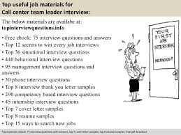 Resume For Call Centre Job by Call Center Team Leader Interview Questions