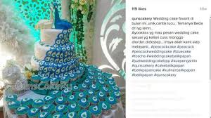 wedding cake balikpapan featured sugarcraft peacock and peahen strut into sugarcraft in