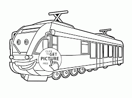 cartoon train coloring page for kids transportation coloring