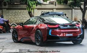 Bmw I8 911 Back - sachin tendulkar paints his bmw i8 a blood red