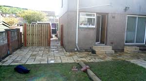Slabbed Patio Designs Td Buildingback Garden Slabbed Patio With Landscaping