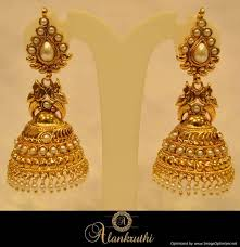 fancy jhumka earrings buy alankruthi fancy gold jhumka 22 online