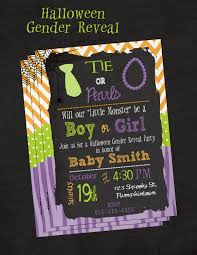 halloween neckties halloween gender reveal invitation ties and pearls halloween