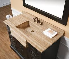 Bathroom Vanity With Farmhouse Sink Integrated Stone Sinks Bathroom Vanities With A Stylish Twist