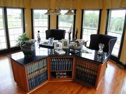 Home Office Bookshelves by Dual Desks Home Office Home Office Traditional With Black Trim