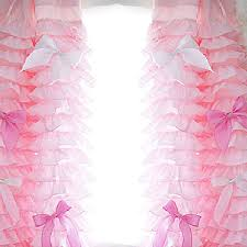 Ruffled Pink Curtains with Ruffle Curtain
