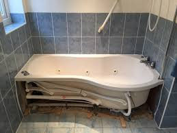 uk bathroom existing bath removed in wet room installation