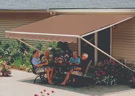 Cost Of Retractable Awning Sunsetter Motorized Retractable Awnings In La By Galaxy Draperies