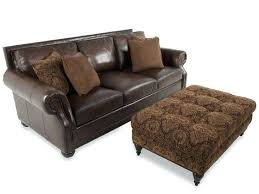 leather sofa with ottoman livg brown microfiber and leather