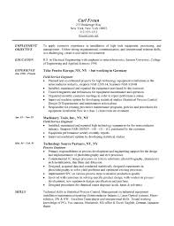 Electrical Engineer Resume Templates Resume Template Engineering Field Engineer Resume Example