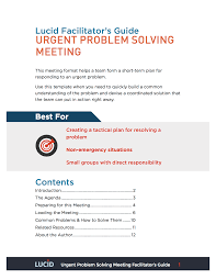 Template Agenda For Meeting by Urgent Problem Solving Meeting Lucid Meetings