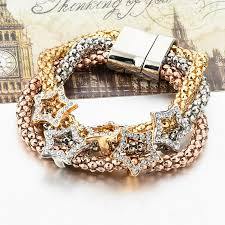 magnetic bracelet gold plated images Gold plated women magnetic bracelet star ar collections jpg