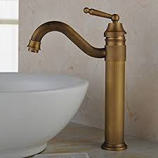 aquafaucet waterfall antique brass finish bathroom vessel sink